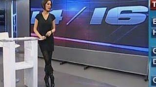 Dilara Gönder Beautiful Turkish Tv Presenter 11.01.2013
