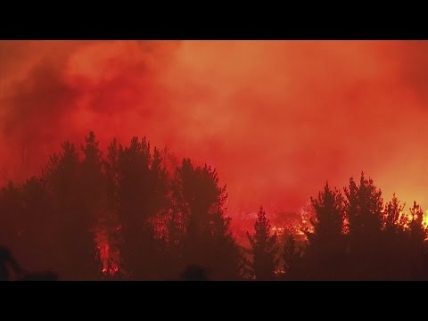 Wildfires kill 10 people in Chile