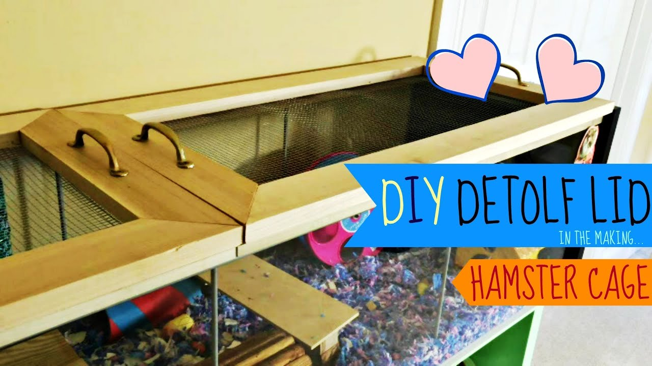 Diy Ikea Detolf Lid Hamster Cage Youtube
