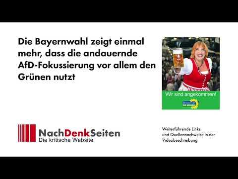 Die Bayernwahl zeigt einmal mehr, dass die andauernde AfD-Fokussierung vor allem den Grünen nutzt