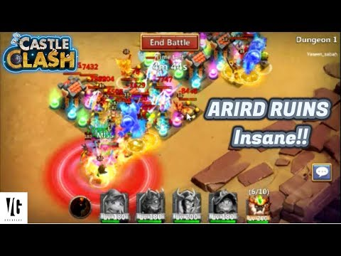 Lets Play ARID RUINS Castle Clash!!