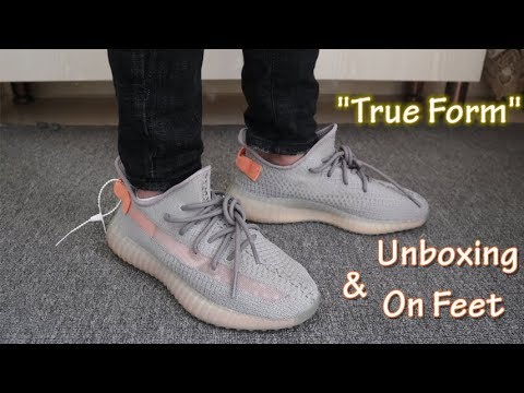 "Yeezy Boost 350 V2 ""True Form TrFrm"" Unboxing Review & On Feet"