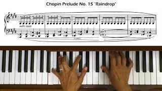 Chopin Prelude Op 28 No 15 Raindrop Piano Tutorial With Score
