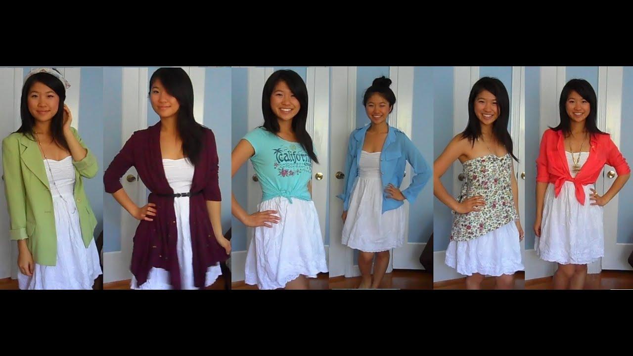 Style: 6 Ways to Wear a White Dress - YouTube