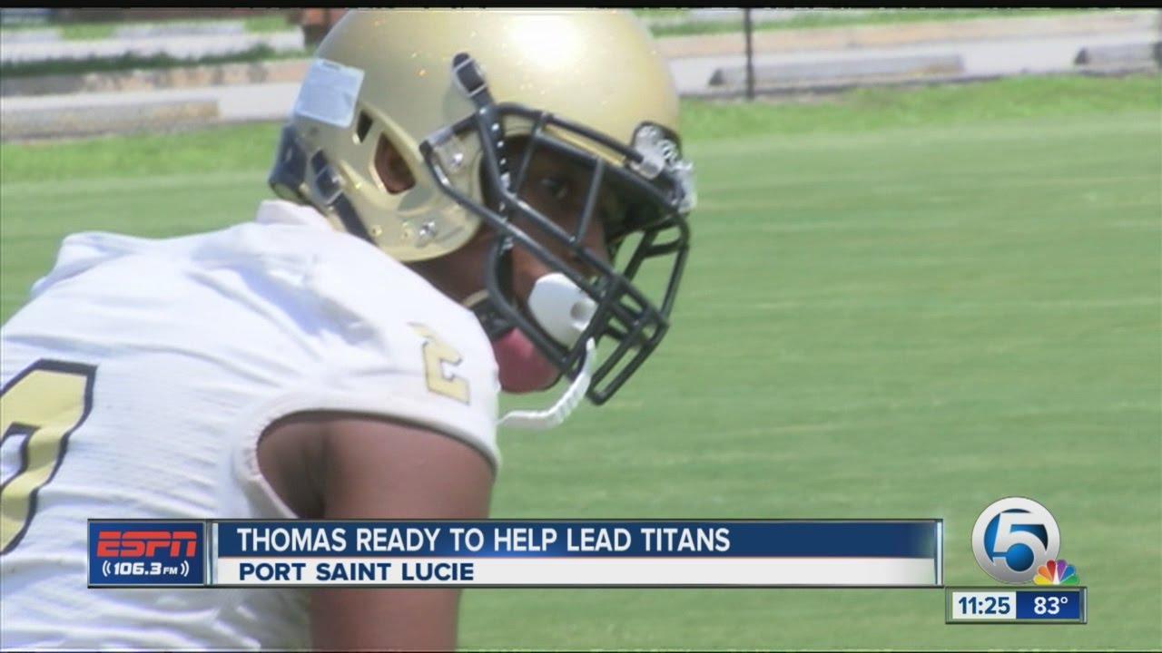 Thomas Ready To Lead Treasure Coast Youtube