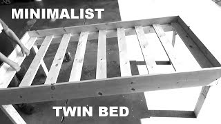 DIY MINIMALIST TWIN BED