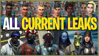 *NEW* Fortnite: ALL CURRENT LEAKED COSMETICS! | (Skins,Backbling, Tools, Gliders and More!)