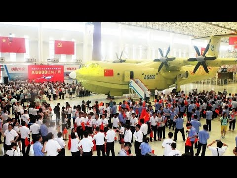 China Built World's Largest Amphibious Aircraft Finished First Glide Test