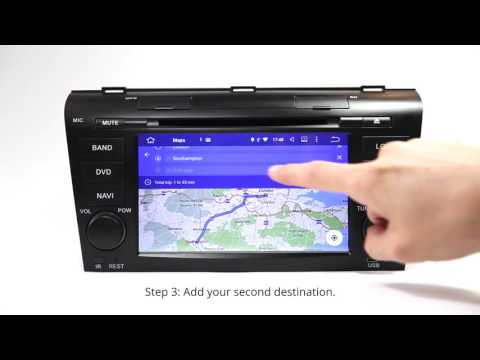 Eonon Android Car GPS using the Latest Google Map 9.21 with Multiple Destination Feature