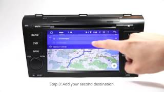 Eonon Android Car GPS using the Latest Google Map 9.21 with Multiple Destination Feature Free HD Video