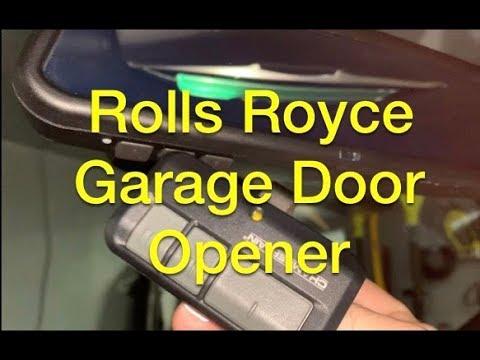 How To Program The HomeLink Garage Door Opener On A Rolls Royce Phantom (or BMW)