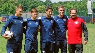 Trainingsauftakt mit Rani Khedira bei RB Leipzig