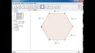 how to make regular hexagon in geogebra
