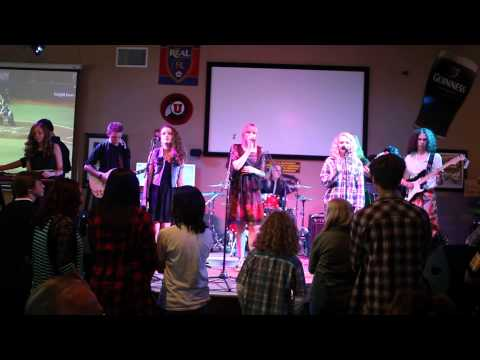 """Sandy School of Rock Showband covers """"What a Man"""" by Linda Lyndell"""