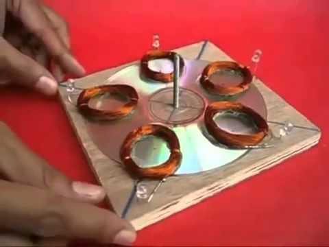 Tự làm máy phát điện bằng các vật dụng đơn giản