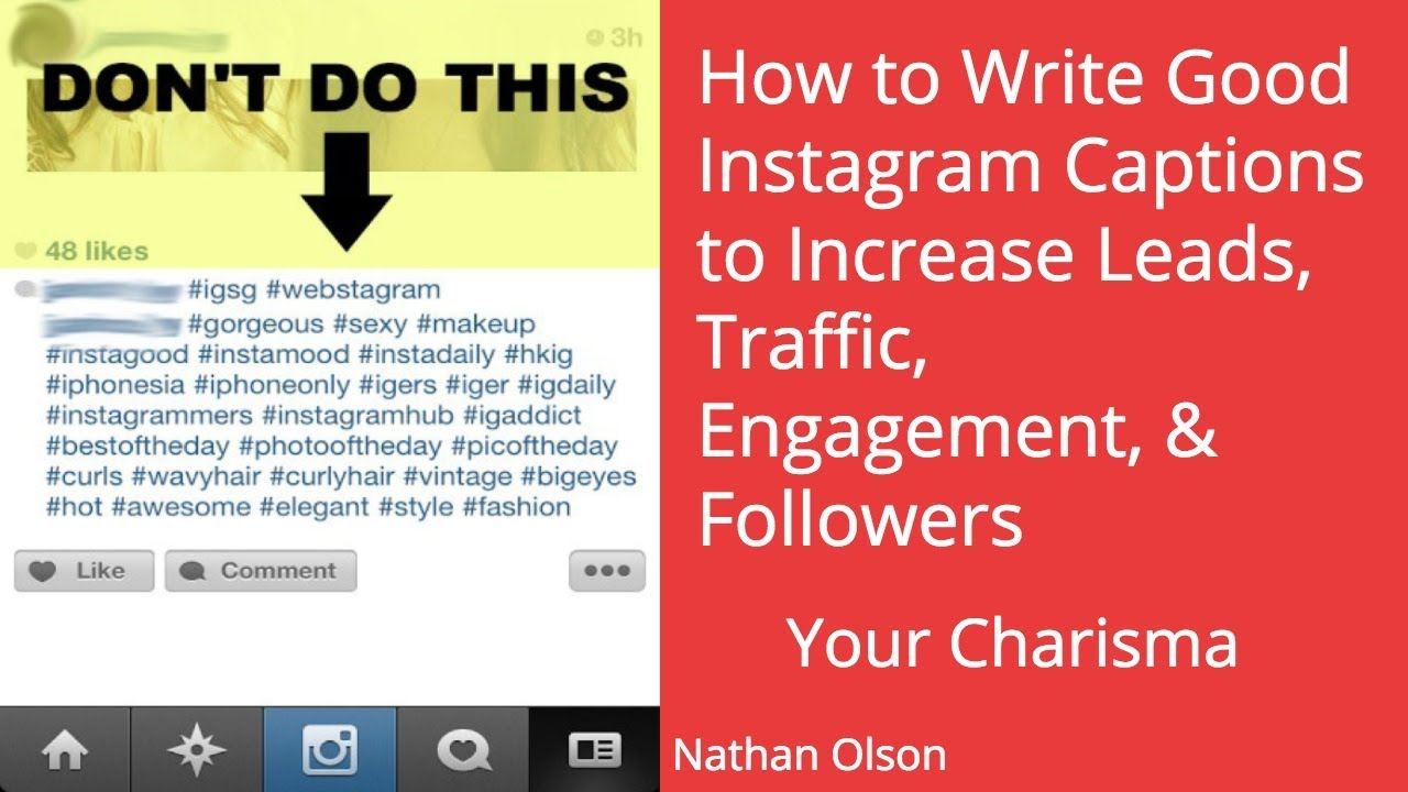 How to Write Good Instagram Captions | Increase Leads, Traffic, Engagement \u0026 Followers on Instagram