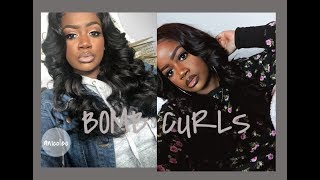 😱THE BEST BIG BODY CURLS 😱| HOW TO CURL WITH A FLAT IRON ON WEAVE|NICE LIGHT HAIR