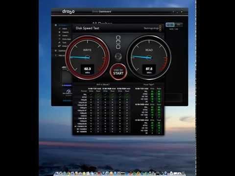 Drobo 5N 5 bays NAS Speed Test