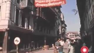Vintage Nepal - Historic old video of typical As0n market & nearby street scenes in Kathmandu, 1970