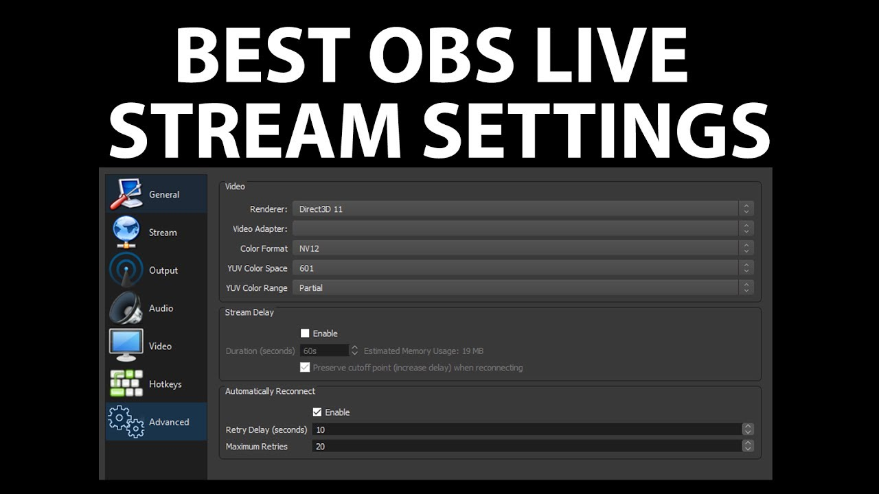 Best streaming options obs