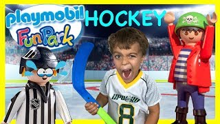 PLAYMOBIL NHL Hockey The Game Super Playset Giant Playground Toy Review Family Fun Best Magic Hockey