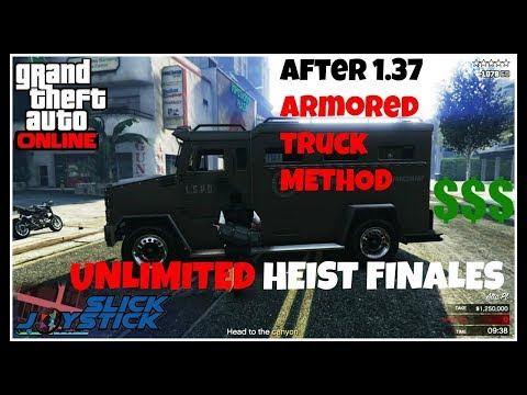 Gta 5 Pacific Standard Heist Glitch with armored Truck After Patch 1.40 (Host Still Working )