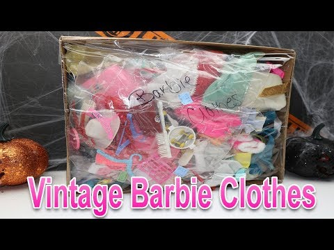 Thrift Haul | Box of Vintage Barbie Clothes