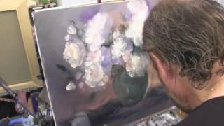 Букет пионов , масляная живопись для начинающих в Москве, Сахаров