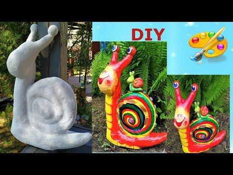 Садовые фигуры своими руками.  Улитка часть 1.  Home Garden Ideas