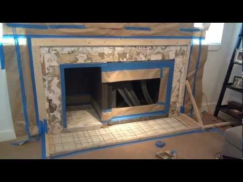 How to make a concrete fireplace hearth
