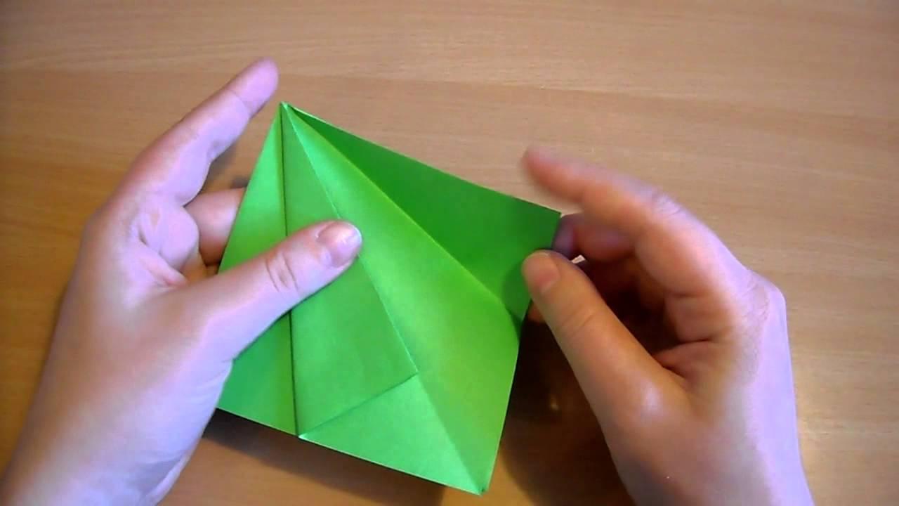 Origami juletræ
