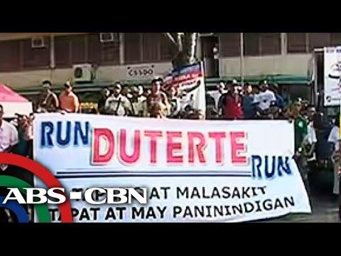Thousands join 'Duterte for President' caravan