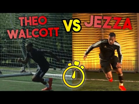 THEO WALCOTT VS JEZZA | EPIC SPRINT RACE