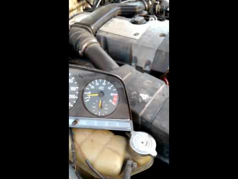 w123 m111 engine swap: genuine tacho