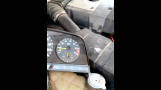 w123 m111 engine swap: genuine tacho