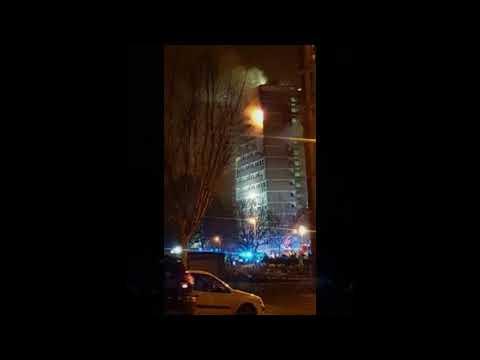 Dunmurry fire – Huge blaze rips through block of Belfast flats
