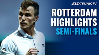 Rublev vs Tsitsipas; Coric vs Fucsovics | Rotterdam 2021 Semi-Final Highlights