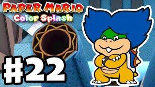Paper Mario: Color Splash - Gameplay Walkthrough Part 22 - Fort Cobalt 100%! (Nintendo Wii U)