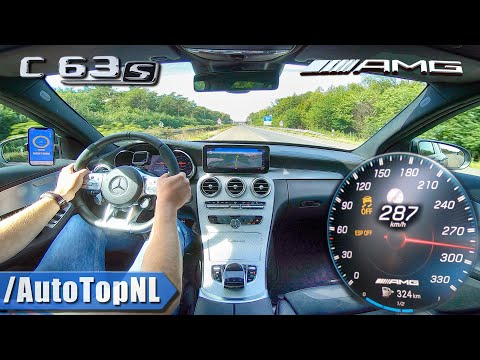 2020 Mercedes AMG C63 S TOP SPEED On AUTOBAHN NO SPEED LIMIT By AutoTopNL