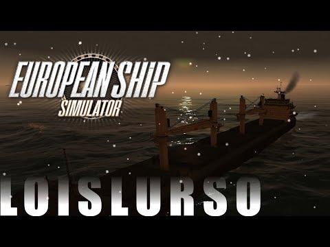 European Ship Simulator #7 - Yö, lumisade ja rahtilaiva