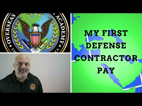 My first defense contractor pay