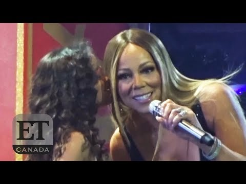 Mariah Carey Brings Kids On Stage