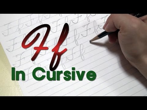 Cursive Handwriting F