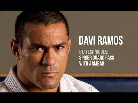 BJJ techniques: David Ramos - Spider guard pass with armbar