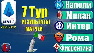 Футбол Обзор Серия А 7 Тур Чемпионат Италии 21 2022 Результаты Таблица Расписание
