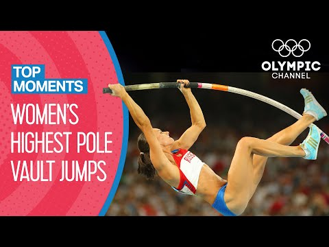 Top 10 Highest Women's Pole Vault at the Olympics | Top Moments