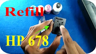 How to refill HP 678 black ink cartridge