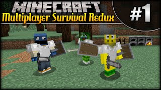 Minecraft: Multiplayer Survival Redux (w/SizzleGames & Tr3vPlaysGames) - Episode 1 - Mob Party!
