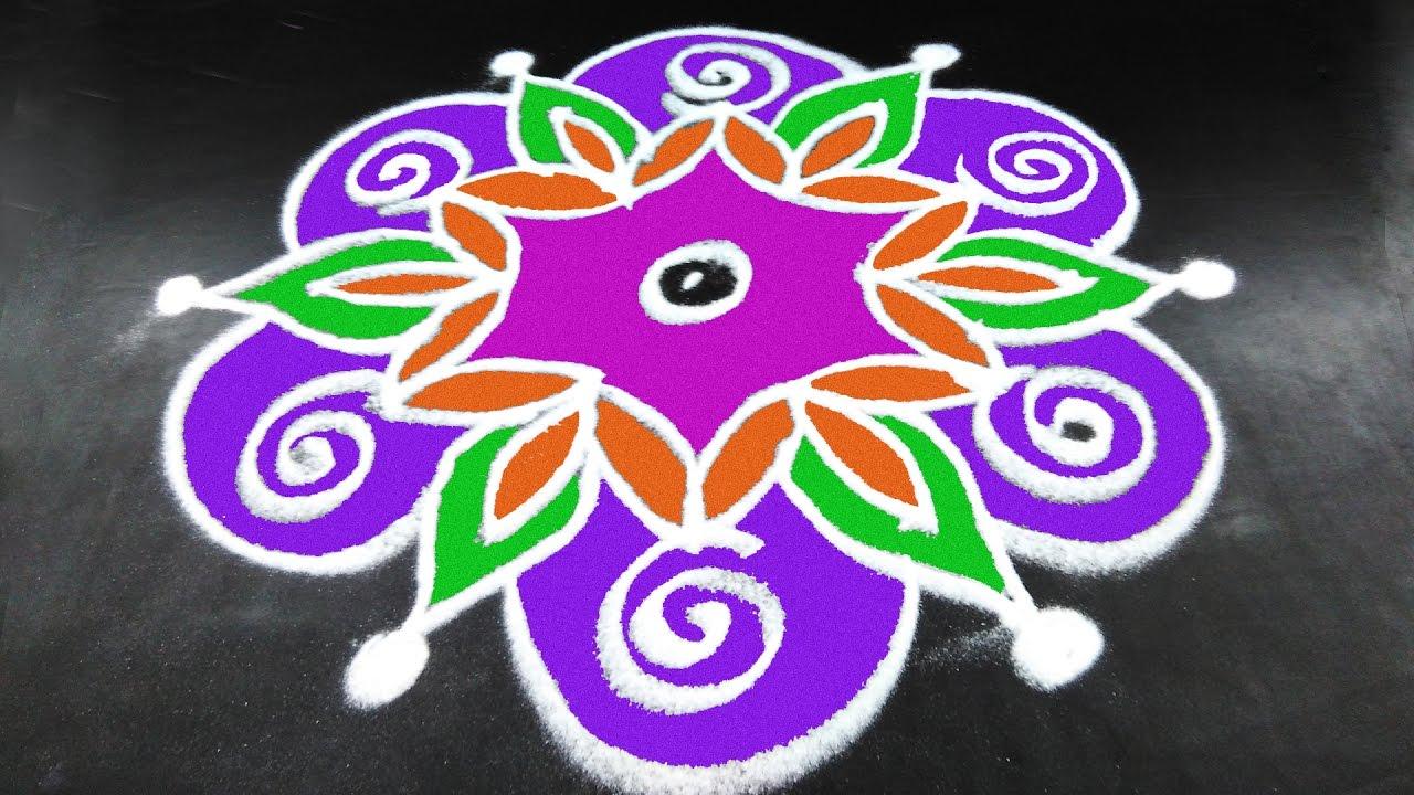 221 Simple Muggulu Easy Rangoli Designs With Kolam Design Art Festival Color Arts