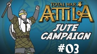Total War: Attila Gameplay - Viking Forefathers - The Jutes Campaign - Part  3 - Raiding!